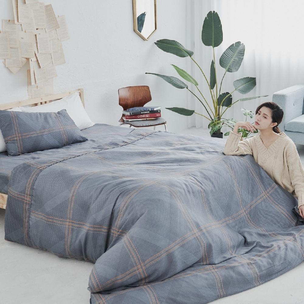 BUHO 100%TENCEL純天絲床包枕套組-雙人加大(多款任選-A) product image 1