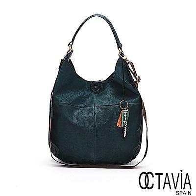 OCTAVIA 8 真皮 - 輕鬆的 ensoen歐式牛皮隨性肩背包 - 悅己綠