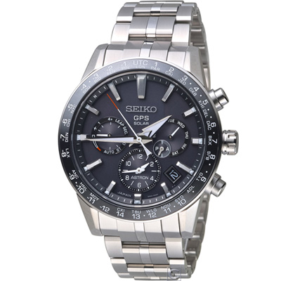 SEIKO ASTRON GPS 5X53雙時區鈦金屬腕錶(SSH003J1)