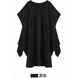 新潮長版前後大開叉T恤-F(共兩色)-CLORI