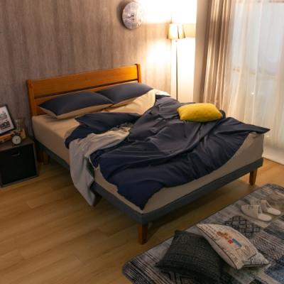 AS-奧斯卡5尺柚木色床台-152x197x95cm