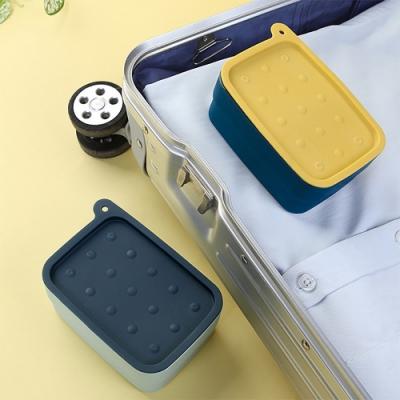 E.City_可攜式多功能居家旅行帶刷收納皂盒