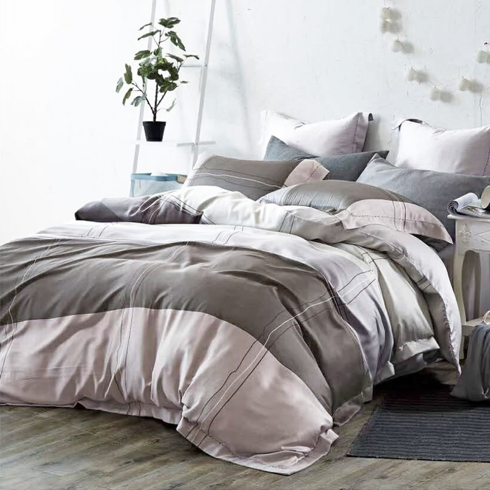 LAMINA 純品 加大100%天絲四件式兩用被套床包組