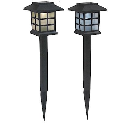 月陽超值2入日式太陽能自動光控LED庭園燈草坪燈插地燈(JP50252)