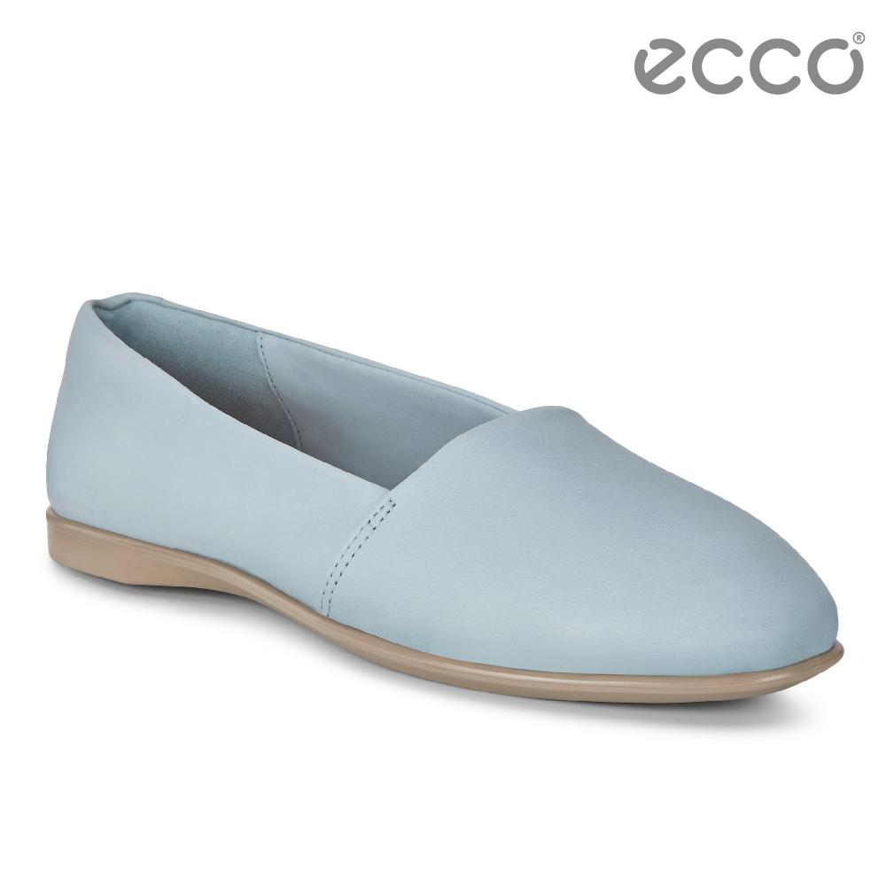 ECCO INCISE ENCHANT 超柔軟牛皮兩穿懶人鞋-藍