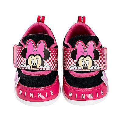迪士尼童鞋 米妮 輕量魔鬼氈學步鞋-黑桃