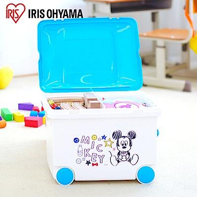 日本Iris Ohyama 迪士尼米奇米妮系列可推拉玩具收納箱