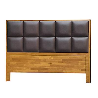 綠活居 皮斯6尺皮革雙人加大床頭片(三色)-184x5x107cm免組