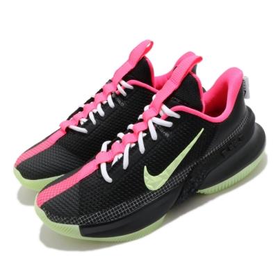 Nike 籃球鞋 Ambassador XIII 運動 男鞋 明星款 LBJ 避震 包覆 夜光底 球鞋 黑 綠 CQ9329001