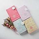 【日本丸真】今治認證設計師系列雙色毛巾禮盒兩件組(毛巾x2)-橘紅+黃