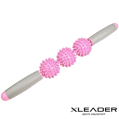 Leader X 美體紓壓 筋絡按摩刺球滾棒 按摩棒 櫻花粉