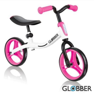 法國Globber - Go-Bike兒童平衡車-白粉