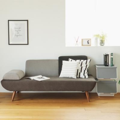 完美主義 北歐風設計款三人座沙發/布沙發(2色)