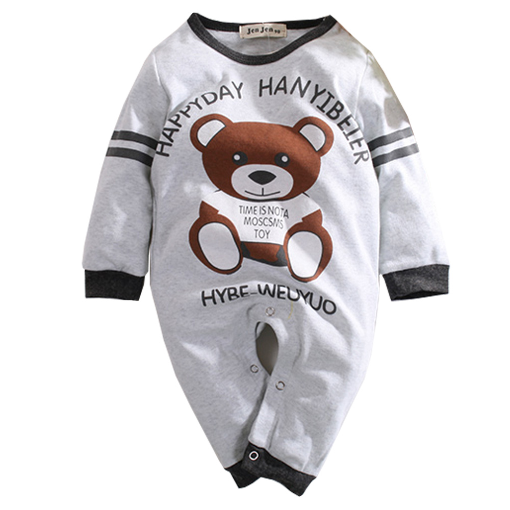 熊印花長袖連身衣 k60389 魔法Baby