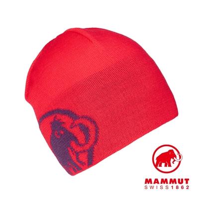 【Mammut】Tweak Beanie 保暖針織LOGO羊毛帽 日落紅/葡萄紫 #1191-01352