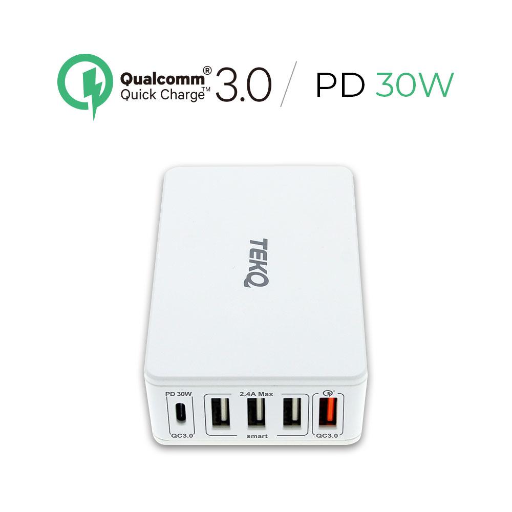 TEKQ 多孔旅充 PD QC3.0 Type-C USB 獨立5合一多功能 萬用充電器
