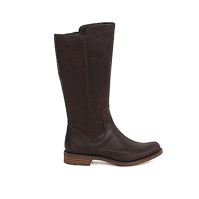 Timberland 女款深咖啡色皮革Magby高筒靴   A1GZAA66