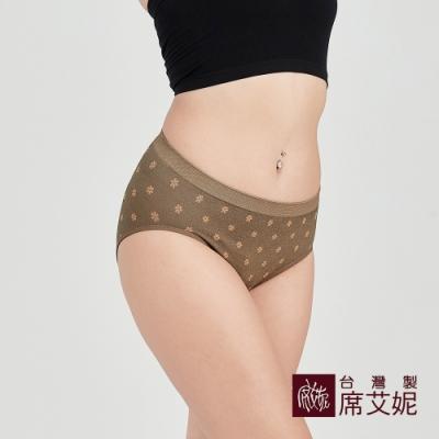 席艾妮SHIANEY 台灣製造 超彈力舒適內褲 抗菌竹炭纖維少女小花款-膚色