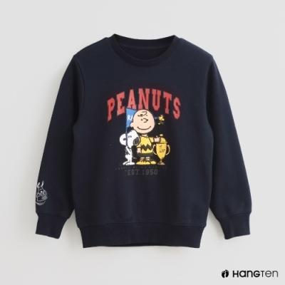 Hang Ten -童裝 - Charlie Brown-冠軍杯印花長袖上衣-藍