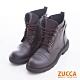 ZUCCA-率性抽繩側拉鍊軍靴-駝-z6729lc product thumbnail 1