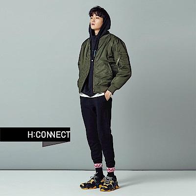 H:CONNECT 韓國品牌 男裝-後背圖像飛行外套-綠
