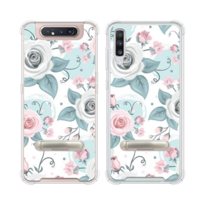 Corner4 Samsung A80 & A70 四角防摔立架手機殼-童話玫瑰