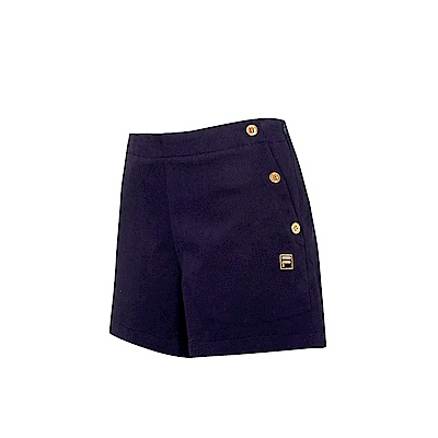 FILA 女款平織短褲-深藍 5SHS-5713-DB