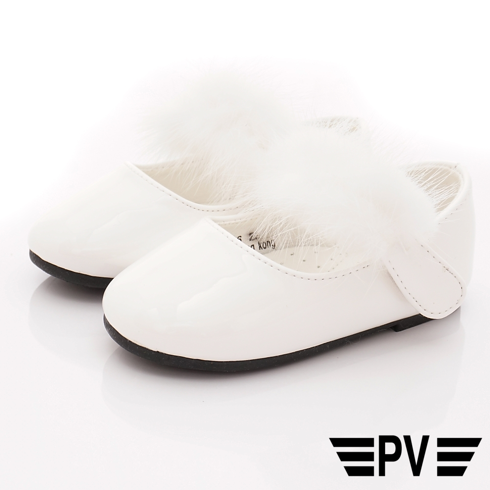 PV日系私藏 氣質毛毛公主鞋款 8126白(寶寶段)