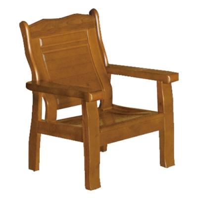 綠活居 瑟德亞雅緻風實木單人座沙發椅-72x74.5x96.5cm免組