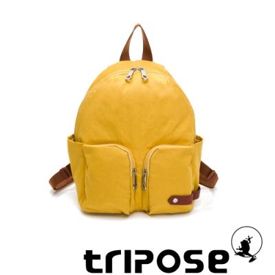 tripose CUBI微皺尼龍輕量後背包 活力黃