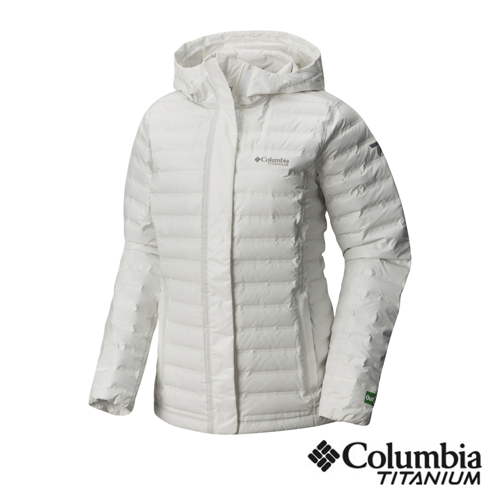 Columbia 哥倫比亞 女款-鈦Outdry ECO 防水羽絨外套-白色 product image 1