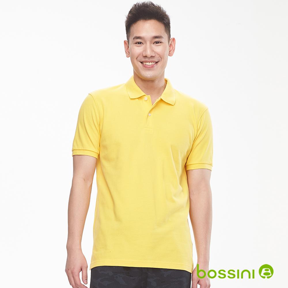 bossini男裝-純棉素色POLO衫19黃