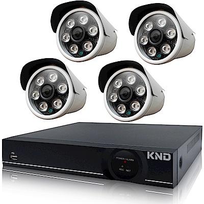 奇巧 4路1080P台製KND單硬碟款主機-含四合一SONY 200萬攝影機x4