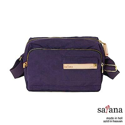 satana - Soldier 簡約斜背包 - 紫色