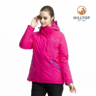【hilltop山頂鳥】女款WINDSTOPPER羽絨短大衣F22FZ8粉紅
