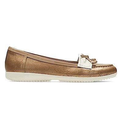 Clarks Feya Bloom女休閒鞋  金棕