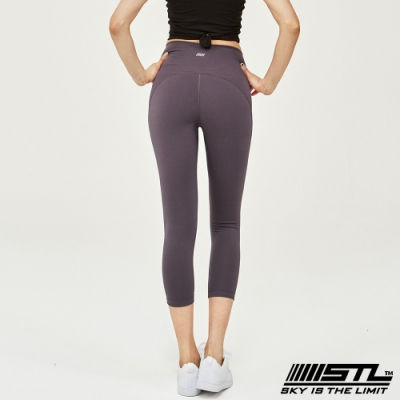 STL Leggings Seven Days 7 韓國 中低腰 運動瑜珈 緊身壓力拉提褲 底色紫