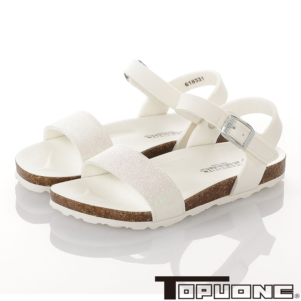 TOPUONE親子鞋童鞋 輕量減壓腳床型涼鞋-白