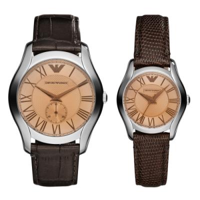 EMPORIO ARMANI 最佳情人經典對錶(AR9110)