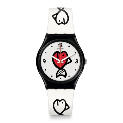 Swatch  I love your folk系列手錶 FISHY FISHY 趣味小魚