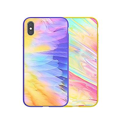 NILLKIN Apple iPhone Xs Max 幻彩玻璃手機殼