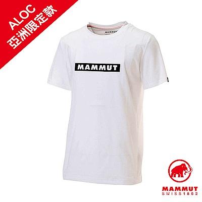 【Mammut 長毛象】QD Logo Print 短袖上衣 白PR2 男款 #1017-02010