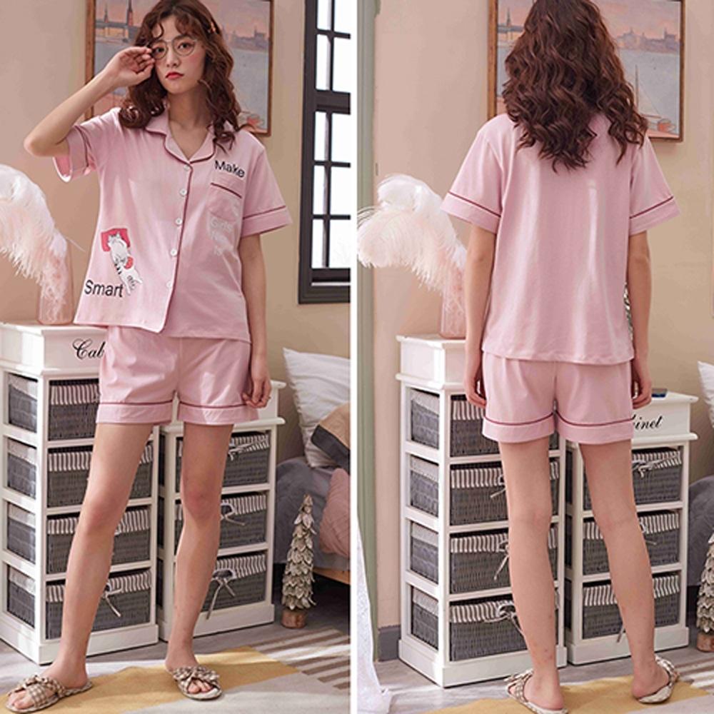 【韓國K.W.】小可愛居家必備休閒套裝-2色