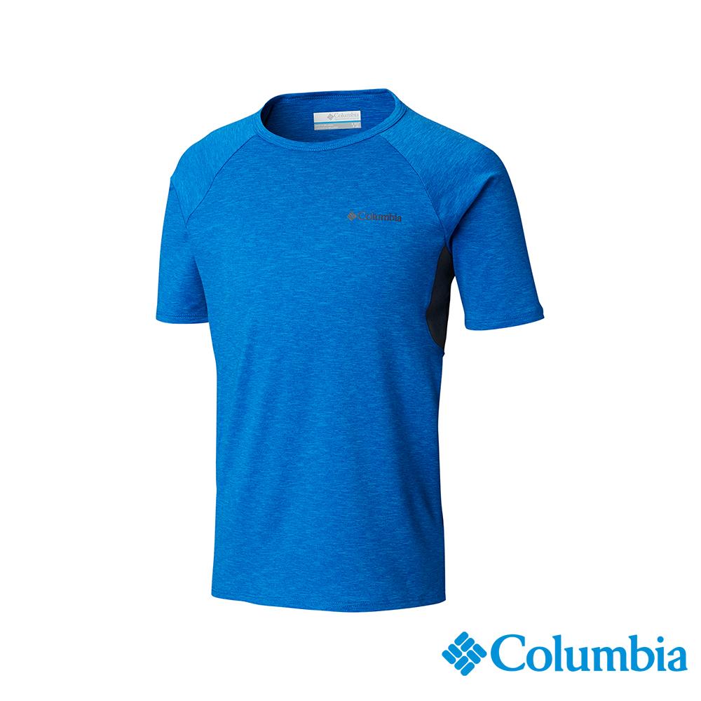 Columbia 哥倫比亞 男童-快排短袖上衣-藍色 UAB00150BL