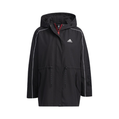 adidas 外套 CNY JKT WARM 女款 愛迪達 防風 風衣外套 連帽 福 新年 黑 白 GP0625