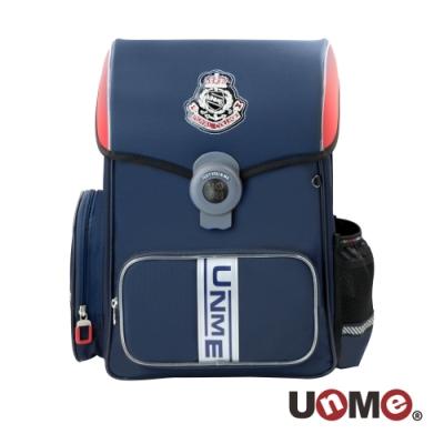【UnMe】皇家曲線護脊減壓磁扣書包-深藍