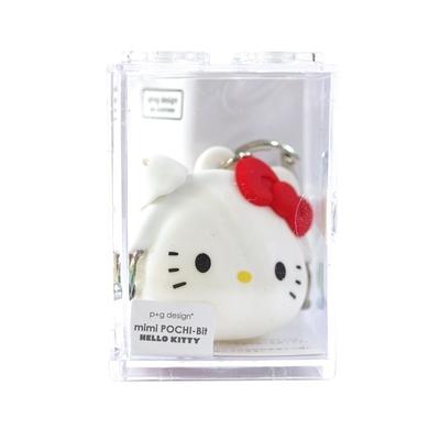 日本限定p+g design矽膠mini POCHI-Bit小錢包零錢包PG-3410系列(附掛勾式鑰匙圈鏈)凱蒂貓Hello Kitty