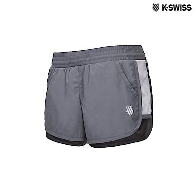 K-Swiss Woven Shorts運動短褲-女-灰