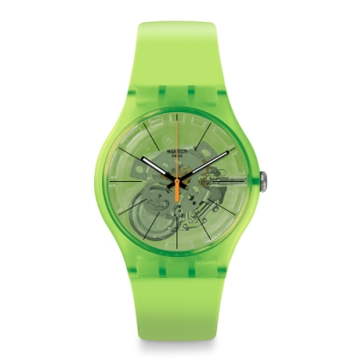 Swatch 原創系列手錶 KIWI VIBES奇異果綠-41mm