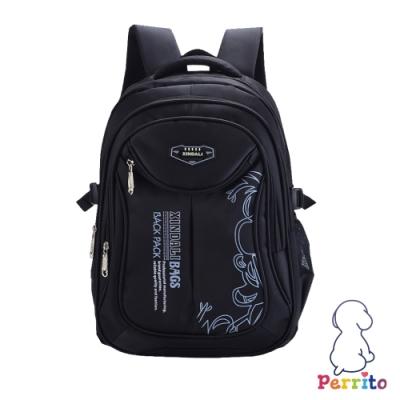 Perrito「創意學園」核心護脊兒童書包 (黑色)